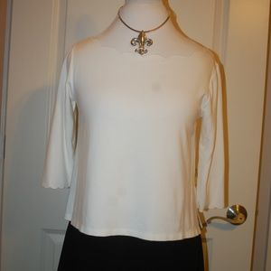 White Scallop Top